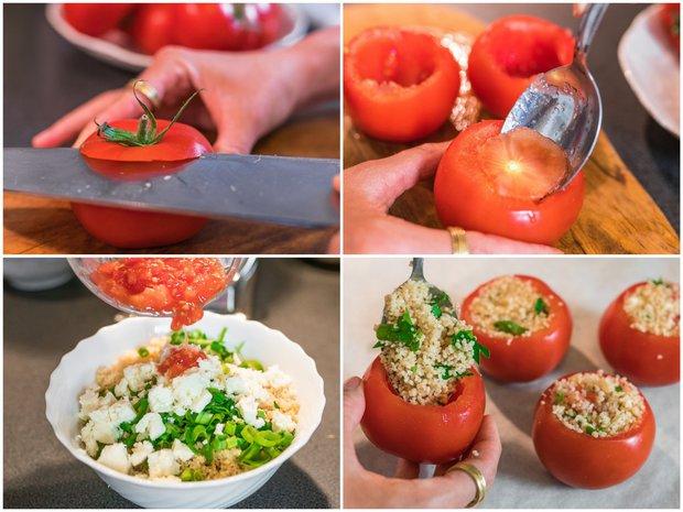 Pečená rajčata plněná kuskusem  Foto:
