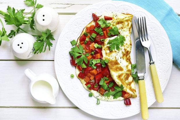 Vaječná omeleta se zeleninou Foto: