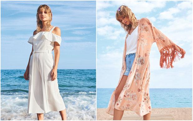 Bílé šaty a květované kimono, oboje F&F Foto: