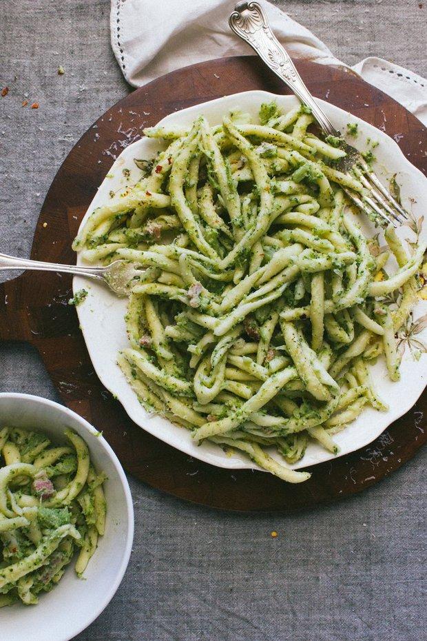 Těstoviny s brokolicí a slaninou 2 Foto:
