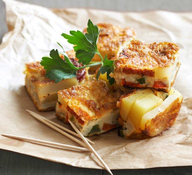 Tortilla s chorizem a paprikou  Foto:
