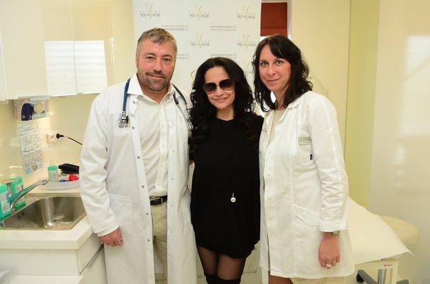 Lucie Bílá na klinice YES VISAGE Foto:
