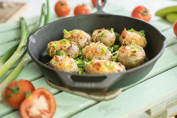 Pečené plněné brambory Foto: