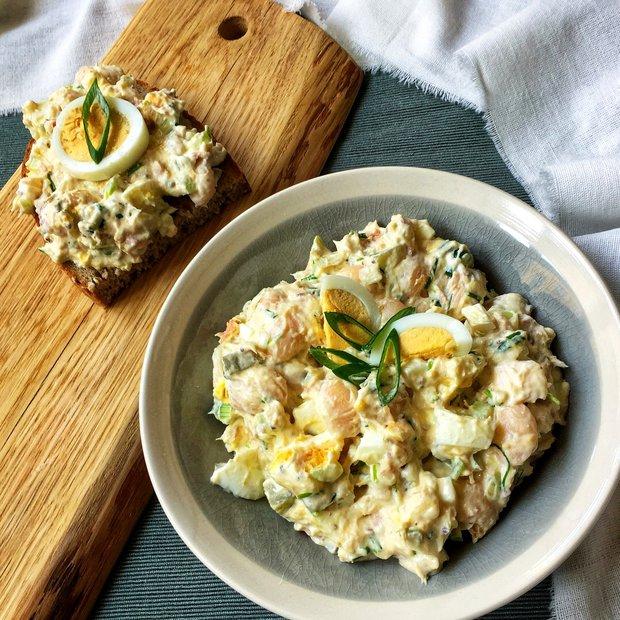 Fazolový salát s tuňákem a vejci  Foto: