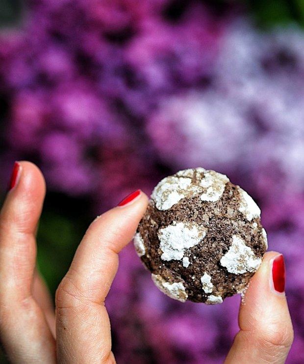 Kakaové Crinkle cookies Foto: