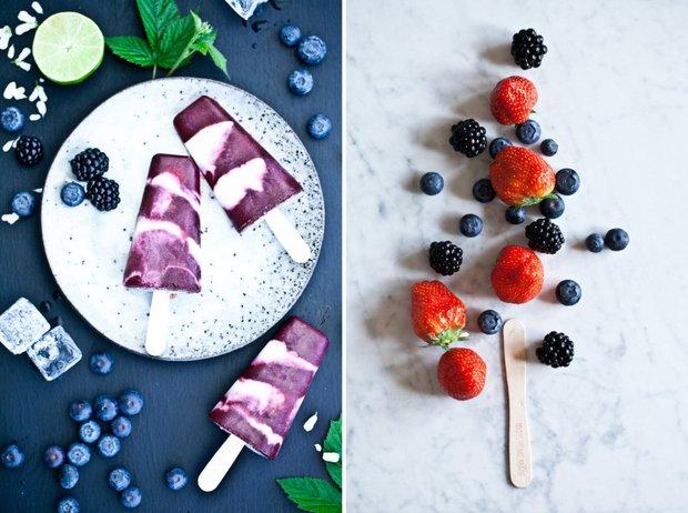 Popsicles - lesní plody, jasmín, smetana Foto:
