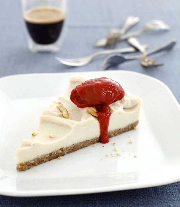 Raw kešu cheesecake  Foto: