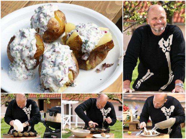 Pečené brambory s bílým jogurtem  Foto: