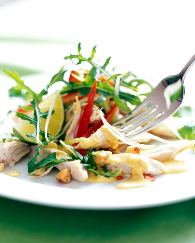 Kuřecí salát s rukolou a koriandrem 2 Foto: