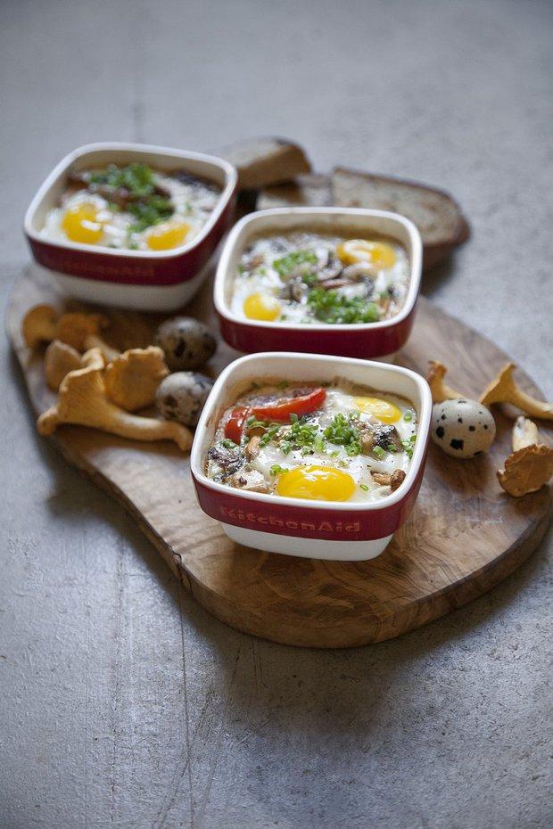 Pečená vejce s houbami 2 Foto: