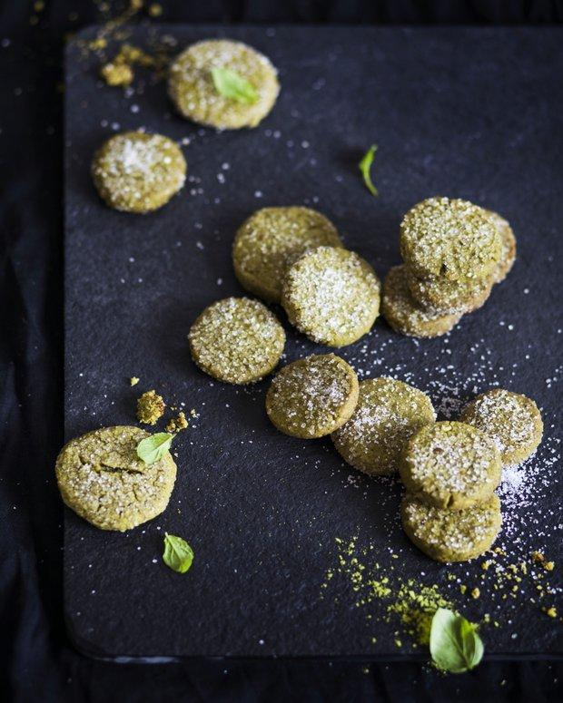 Křehké sušenky s čajem matcha  Foto: