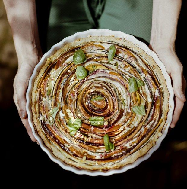 Kulatý zeleninový koláč  Foto: