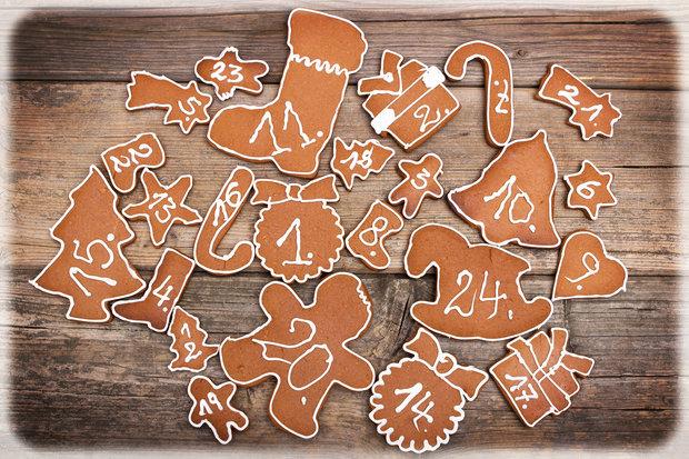 Perníkový kalendář patří mezi ty nejoblíbenější. Foto: