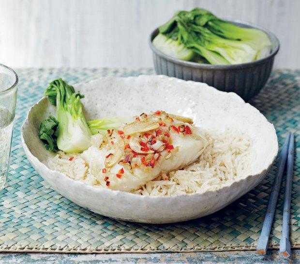 Ryba po thajsku s restovaným česnekem  Foto: