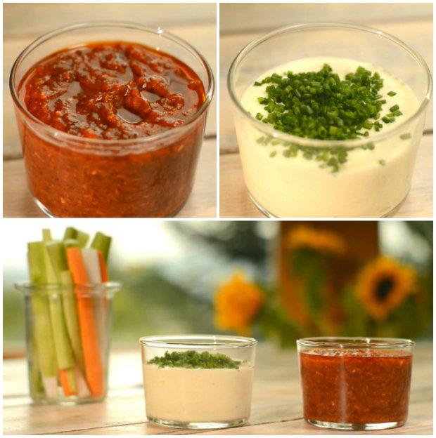 Dip z pečeného česneku a Bloody Mary dip  Foto: Hermína / Prima