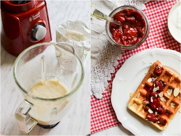 Pečené jahody s balzamikem a báječné vafle z mixéru Foto: