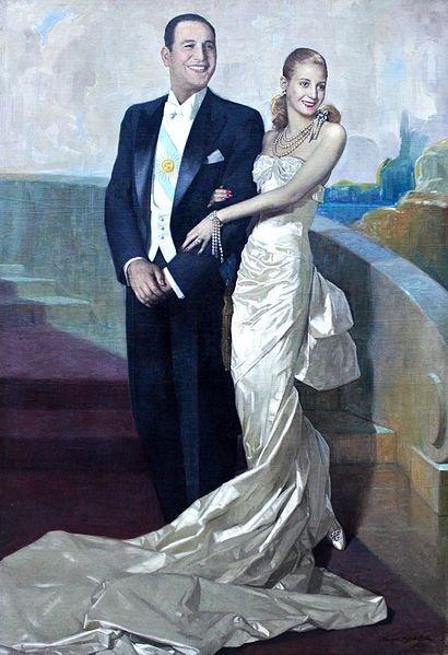 Evita Perón s manželem Foto: