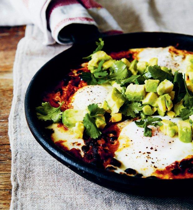 Zdravá vejce po farmářsku - Huevos Rancheros  Foto: