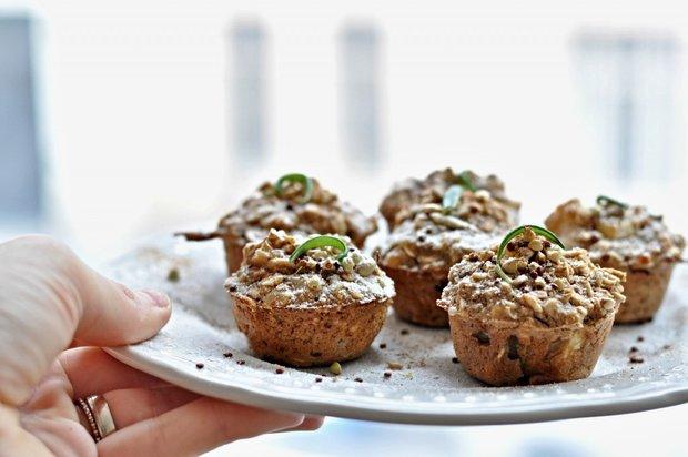Muffiny z ovesných vloček a hrušky 2 Foto:
