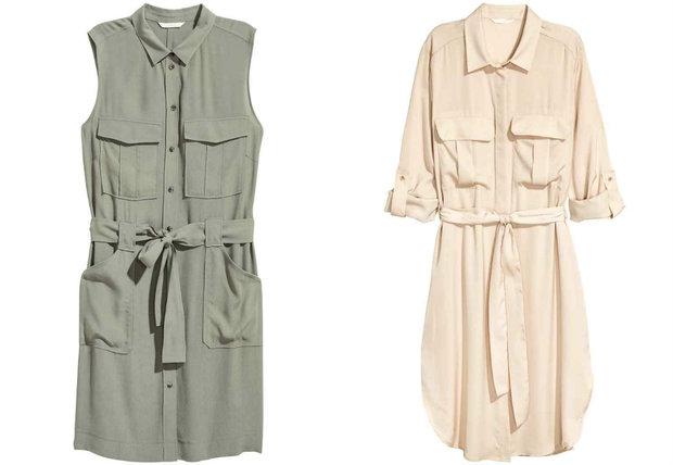 Khaki 899 Kč, béžové 899 Kč, oboje H&M Foto: