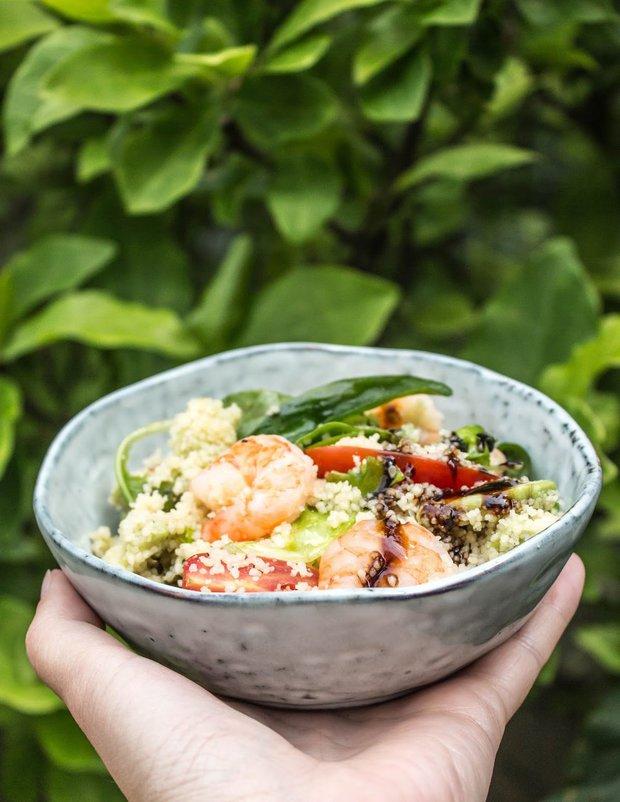 Letní salát s kuskusem a krevetami 2 Foto: