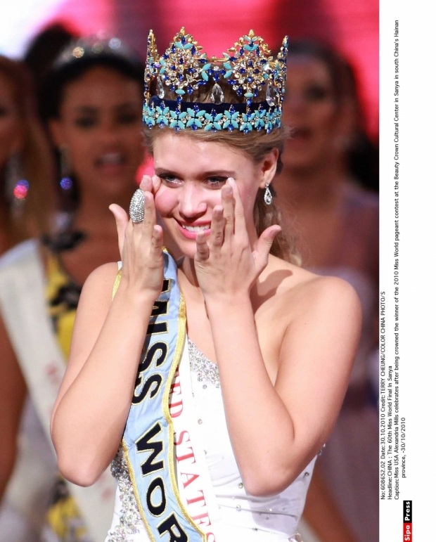 Alexandria Mills z USA vyhrála Miss World v roce 2010. Foto: Isifa