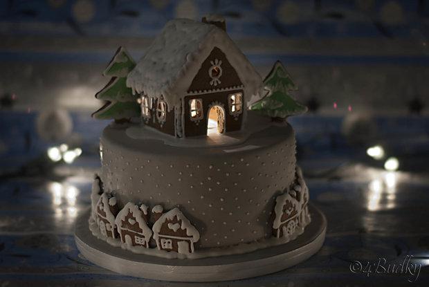 Vyrobte si dort se svítící chaloupkou  Foto: