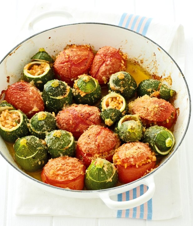 Plněná rajčata a cukety Foto: