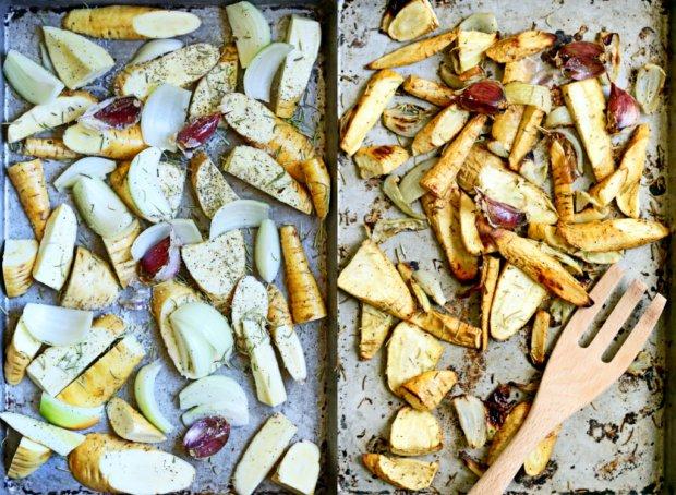 Polévka z pečeného česneku, pastináku a bílých fazolí 2 Foto: