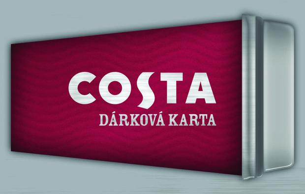 Dárkové karty do kaváren CostaCoffee v hodnotě 250 Kč, 500 Kč nebo 1 000 Kč, k zakoupení v kavárnách CostaCoffee Foto: