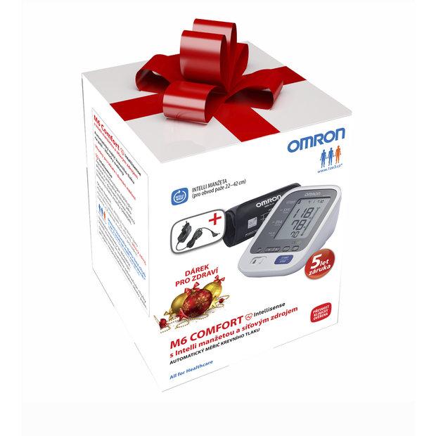 Spolehlivý tlakoměr OMRON M6 Comfort s jedinečným patentovaným systémem pro optimální nafouknutí manžety, www.1ze3.cz, k dostání v lékárnách a zdravotnických potřebách,cena 1990 Kč Foto: