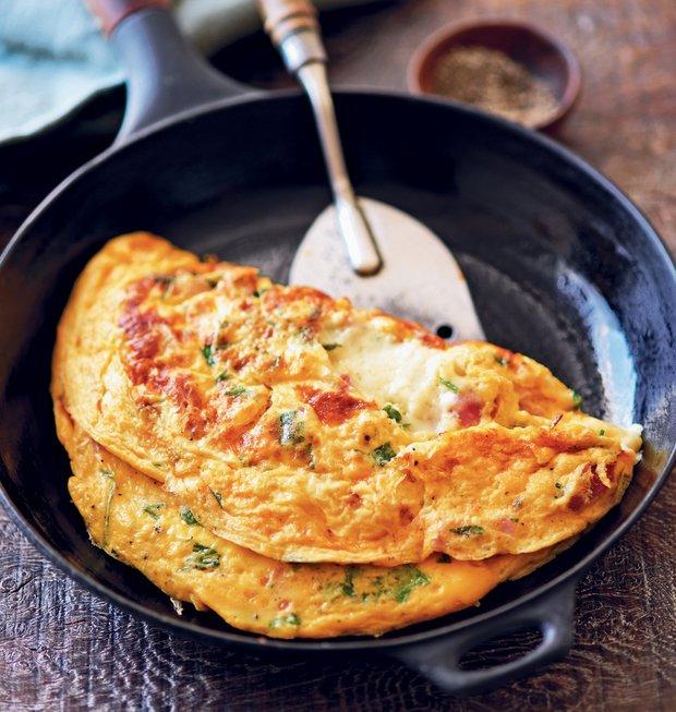 Omeleta s pečenou šunkou  Foto:
