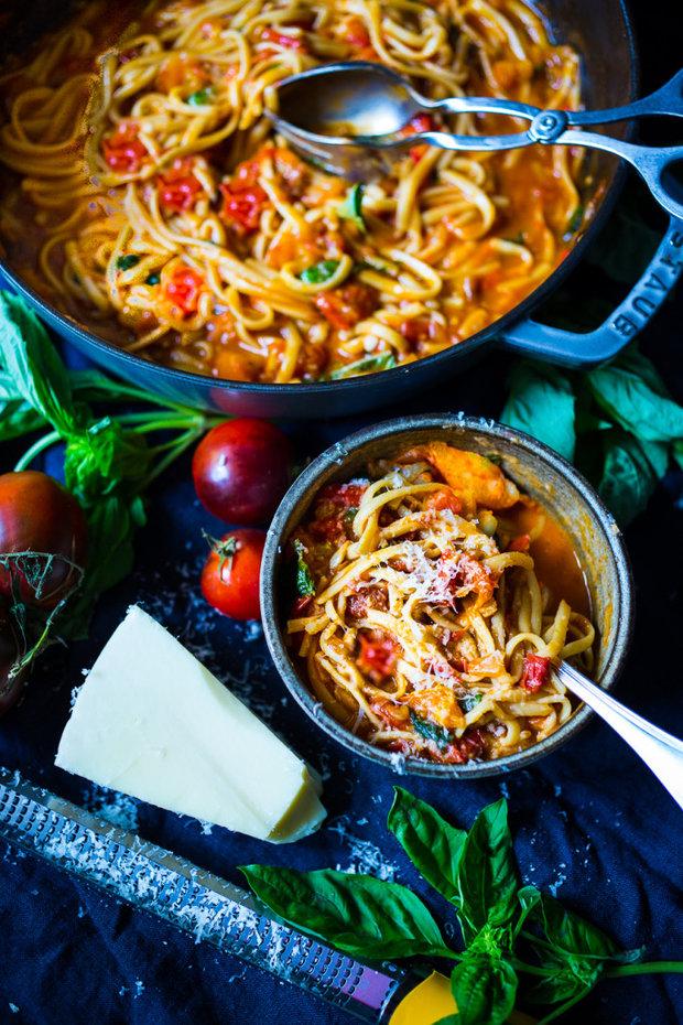 Špagety s rajčatovou omáčkou 3 Foto: