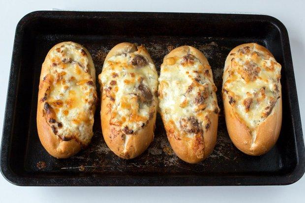 Bagetky plněné houbami 3 Foto:
