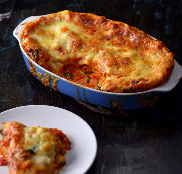 Dýňové lasagne s houbami  Foto: