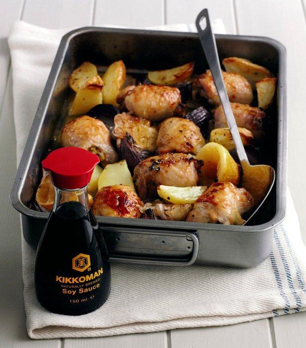 Citronové kuře s pečenými bramborami  Foto: