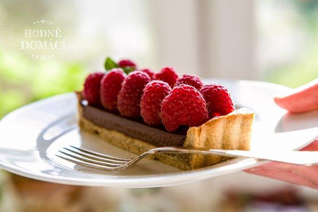 Malinovo-čokoládový koláč 2 Foto: