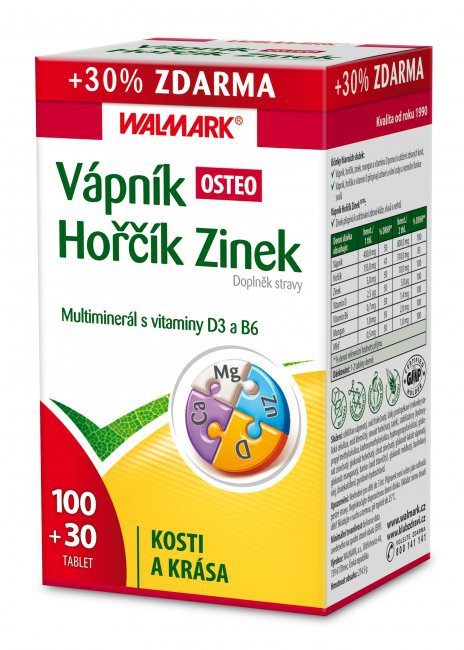 osteoporóza - vápník, hořčík, zinek Walmark Foto: