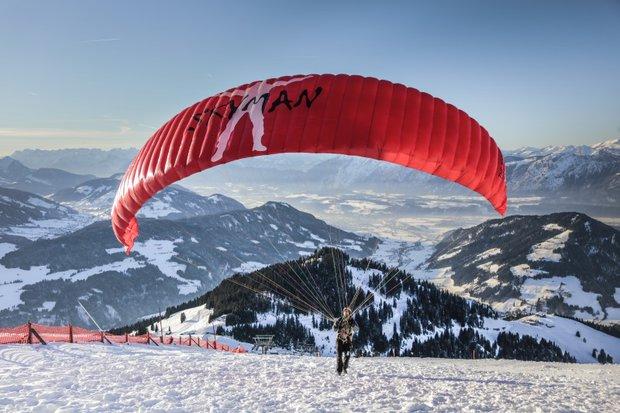 I v zimě se dá provozovat paragliding Foto: