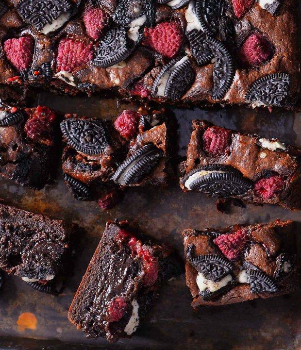 Oreo brownies s malinami  Foto: