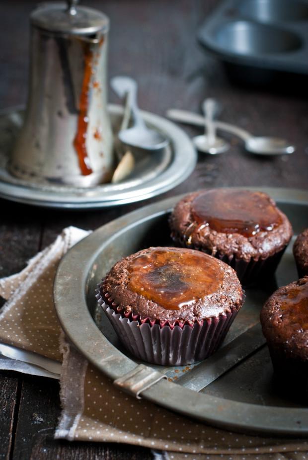 Čokoládové muffiny s pikantním sirupem Foto: Sweet pixel blog