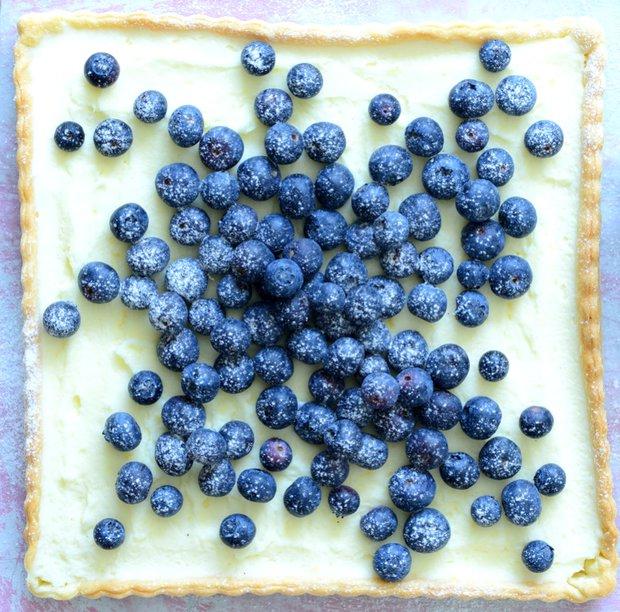 Křehký koláč s borůvkami a mascarpone  Foto: