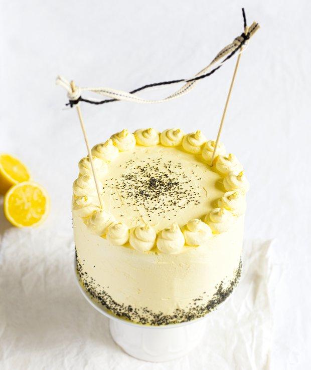Makový dort s citronovým krémem  Foto: