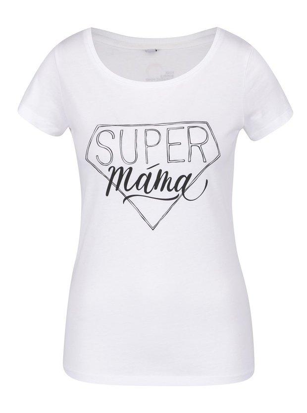 Bílé dámské tričko Zoot Originál Super máma, cena 349 Kč Foto:
