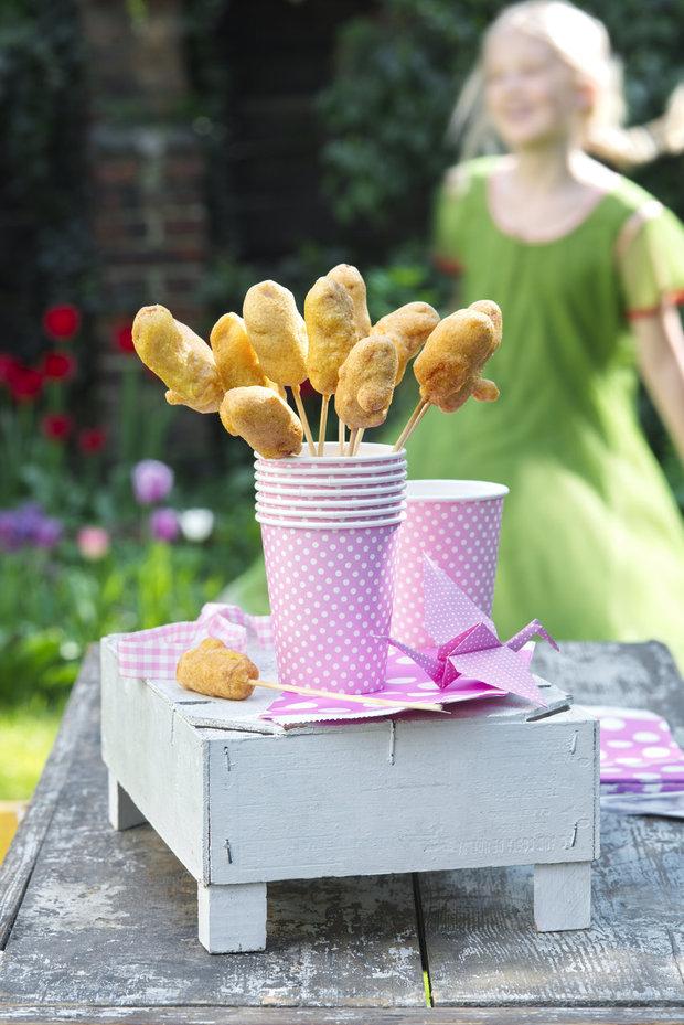 Corn dogs aneb párečky v kukuřici Foto: