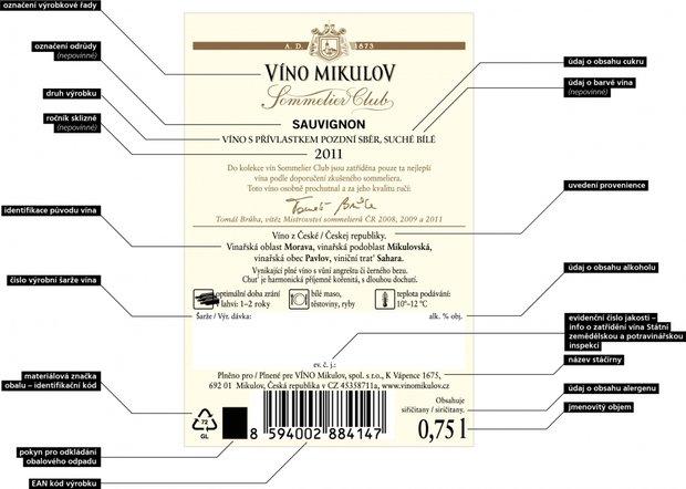 etiketa vína - obrázek Foto:
