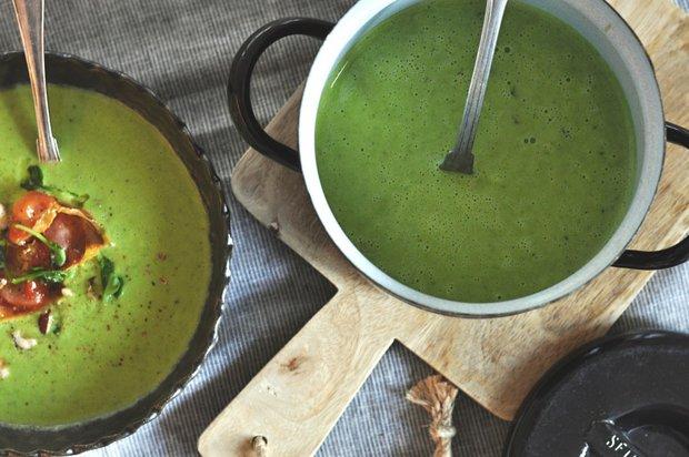 Hrášková polévka s bazalkou a parmazánem Foto:
