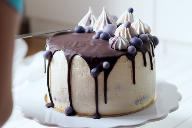 Vanilkový dort s borůvkami  Foto: