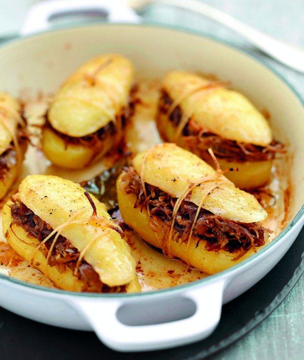 Plněné zapečené brambory  Foto: