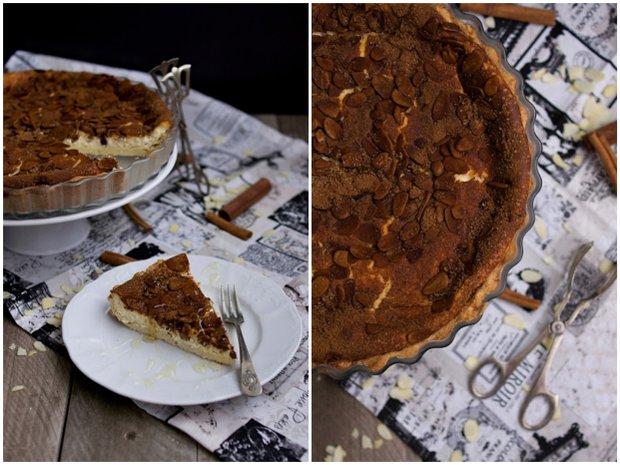 Tvarohový koláč se skořicí a mandlemi  Foto: